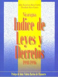 NICARAGUA: ÍNDICE DE LEYES Y DECRETOS 1990 - 1996